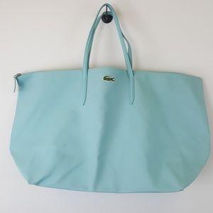 Lacoste baby blue tote handbag